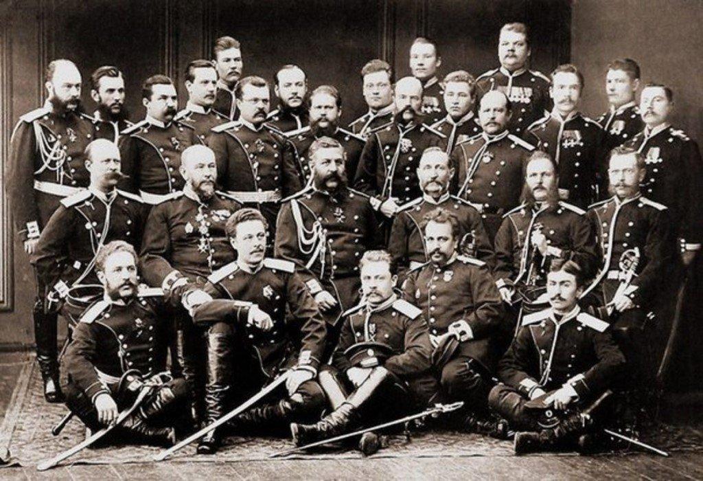 Офицеры и унтер-офицеры Лейб-Гвардии Финляндского полка, 1878