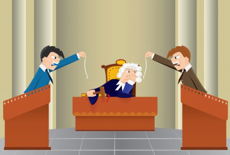 Photo of Юмор в зале суда, в слушании дел.